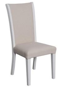 Krzesło tapicerowane TA 028 - biały/beżowy