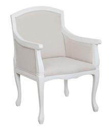Fotel z podłokietnikami TA 358 - biały/kremowy