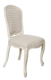 Krzesło drewniane tapicerowane VERONA 811 - kość słoniowa