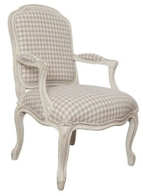 Fotel tapicerowany z podłokietnikami VERONA 812 - kość słoniowa