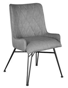 Krzesło tapicerowane ADESSO D03B - szary