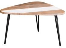 Stolik kawowy trójkątny ADESSO L06-H45 - czarny/beżowy