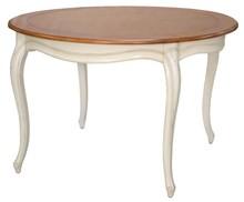 Stół drewniany okrągły VERONA 877 120cm - kość słoniowa
