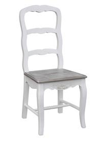 Krzesło rzeźbione RIMINI WHITE 028 - biały