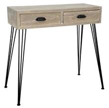 Konsola w dwiema szufladami LOANO 012 - surowe jasne drewno