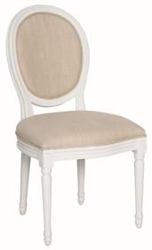 Krzesło drewniane tapicerowane TA 024 - biały/beżowy
