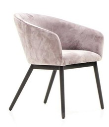 Krzesło tapicerowane CAPELLA D03 - pudrowy róż