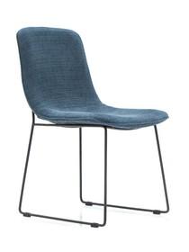 Krzesło tapicerowane FLOW D03 - niebieski