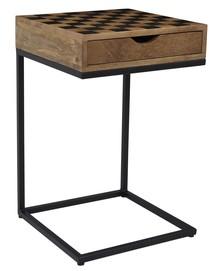 Stolik szachowy z pionkami do warcabów AVOLA AV1730-26 - brązowy