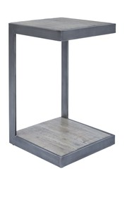 Stolik metalowy AVOLA ANTIQUE GREY AV1730-90-AG - szary