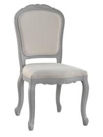 Krzesło prowansalskie tapicerowane CATANIA 066 - szary/kremowy