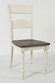 Krzesło drewniane AVOLA VINTAGE WHITE AV1706-401KD - biały/brązowy