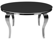 Stół okrągły glamour Ø100 cm TH780-2 - czarny