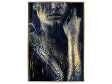 Obraz kobieta okraszona złotem A0408 80x120 cm