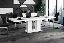 Stół rozkładany LINOSA - wysoki połysk/biały