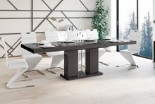 Stół rozkładany LINOSA - wysoki połysk/brązowy