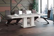 Stół rozkładany LINOSA - wysoki połysk/cappucino