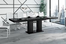 Stół rozkładany LINOSA - wysoki połysk/czarny