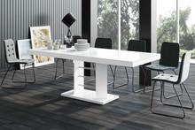 Stół rozkładany LINOSA LUX - wysoki połysk/biały