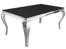 Stół ze szklanym blatem CT/TH306 150x90x75 cm - czarny