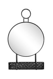 Lustro z zawieszką i metalowym koszyczkiem TOYJ19-373 42x71 cm - czarny
