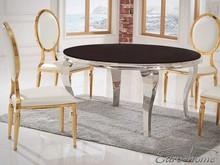 Stół okrągły TH306-5 140 cm - czarne szkło