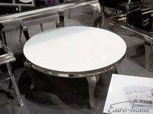 Stolik kawowy okrągły C306-1 - białe szkło