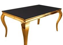 Stół TH306-1 200x100 - złoty/czarne szkło
