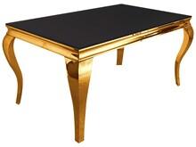 Stół TH306 150x90 - złoty/czarne szkło