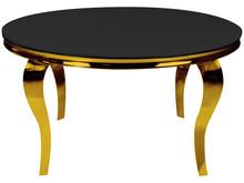 Stół okrągły TH306-6 120 cm - złoty/czarny