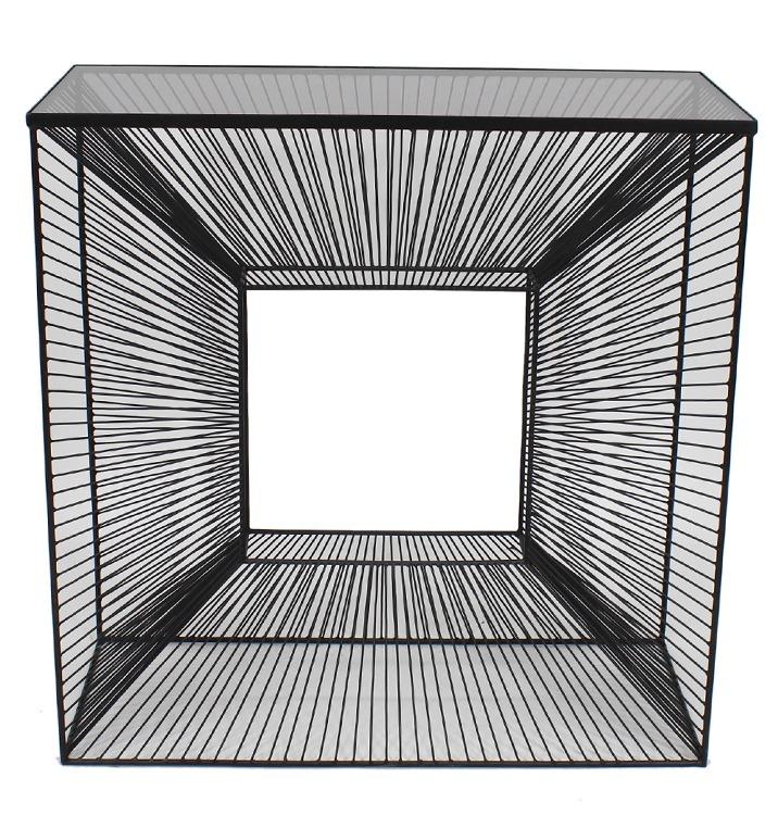 Konsola metalowa TOYJ19-519 80x35x120 cm - czarny