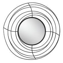 Lustro w ramie z drucików TOYJ19-377 Ø105 cm - czarny