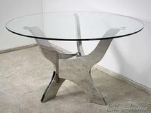 Stół okrągły ze szklanym blatem TH314 120 cm