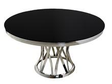 Stół okrągły z dekoracyjną podstawą TH371 128 cm
