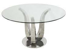 Stół okrągły ze stalową podstawą TH704 130 cm