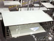 Stolik kawowy CJ-1061 - białe szkło