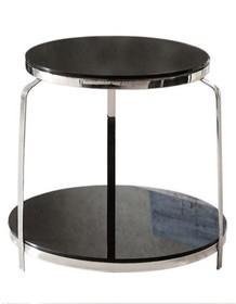 Stolik okrągły JJ-1005B - czarne szkło