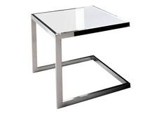 Stolik kwadratowy JJ-1008 - białe szkło