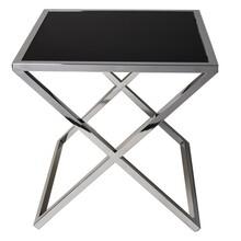 Stolik kwadratowy JJ-1020 - czarne szkło