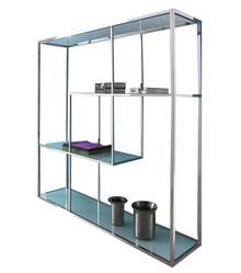 Regał stalowy GG-1009 - białe szkło