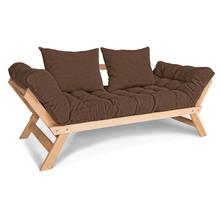 Sofa rozkładana ALLEGRO - naturalny/brąz