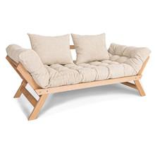 Sofa rozkładana ALLEGRO - naturalny/krem