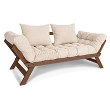 Sofa rozkładana ALLEGRO - orzech/krem