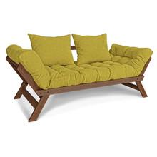 Sofa rozkładana ALLEGRO - orzech/zieleń