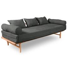 Sofa rozkładana LE MAR - naturalny/popiół