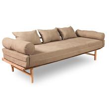 Sofa rozkładana LE MAR - naturalny/beż