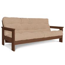 Sofa rozkładana MEXICO - orzech/beż