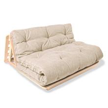 Sofa rozkładana futon LAYTI 140 - krem