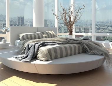 Pomysły na okrągłe łóżko