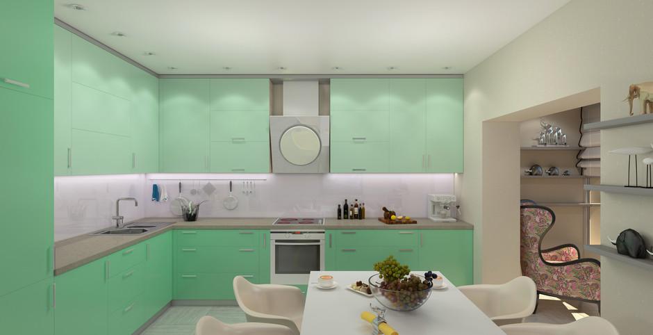 Kuchnia w kolorze mięty  jak wprowadzić ten kolor do wnętrza? – Meble – mebl   -> Kuchnia W Kolorze Mietowym